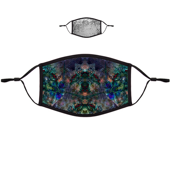 Valendrin Psychedelic Flip-Sequin Face Mask