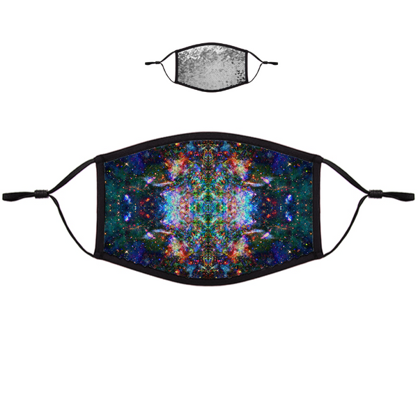Oriarch Psychedelic Flip-Sequin Face Mask