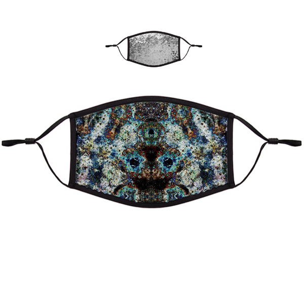 Lunix Psychedelic Flip-Sequin Face Mask
