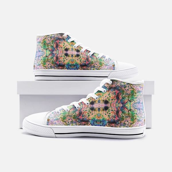 Lurian Wobble Psychedelic Canvas High-Tops