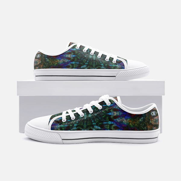 Azule Psychedelic Canvas Low-Tops
