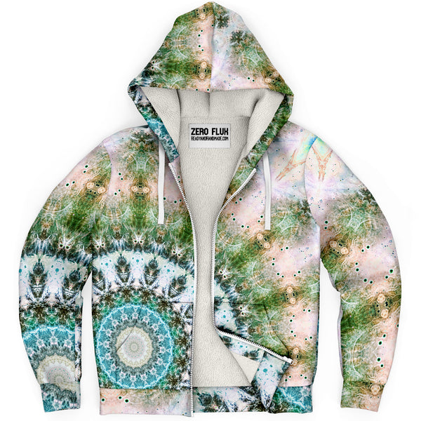 Dreamweaver Psychedelic Fleece-Lined Zip-Up Hoodie