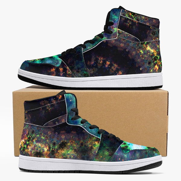 Ceres Psychedelic Split-Style High-Top Sneakers