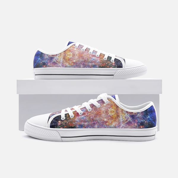 Niari's Shadow Psychedelic Canvas Low-Tops