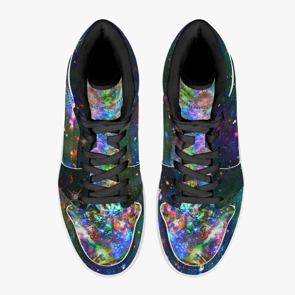 Oriarch Psychedelic Split-Style High-Top Sneakers