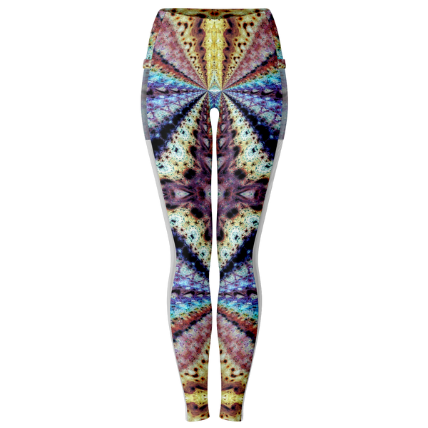 Ziggurat Psychedelic Mesh Pocket Leggings