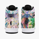 Lurian Wobble Psychedelic Split-Style High-Top Sneakers