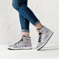 Aphrodite Psychedelic Split-Style High-Top Sneakers