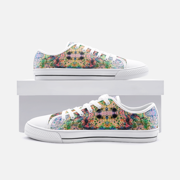 Lurian Wobble Psychedelic Canvas Low-Tops