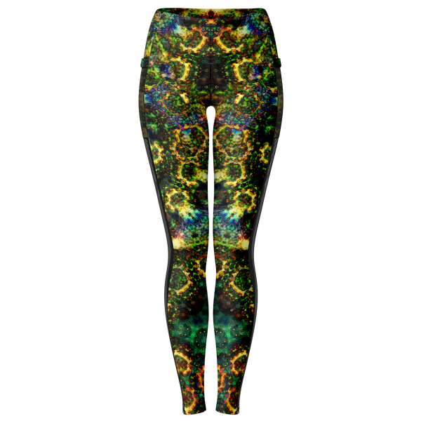 Xerxes Psychedelic Mesh Pocket Leggings