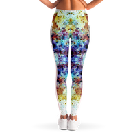 Regail Psychedelic Mesh Pocket Leggings