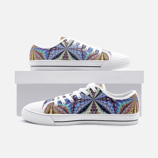 Ziggurat Psychedelic Canvas Low-Tops