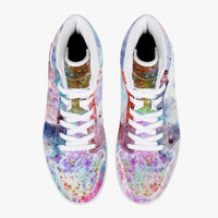 July Psychedelic Split-Style High-Top Sneakers
