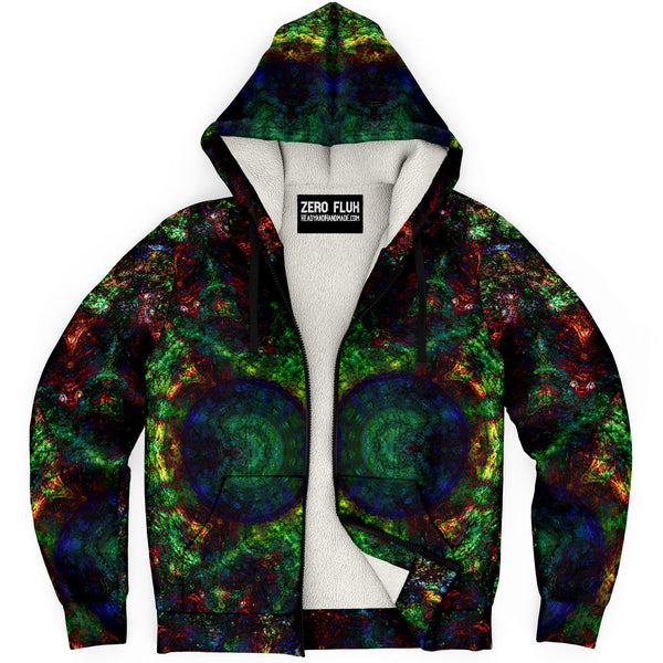 Epsilon Psychedelic Fleece-Lined Zip-Up Hoodie