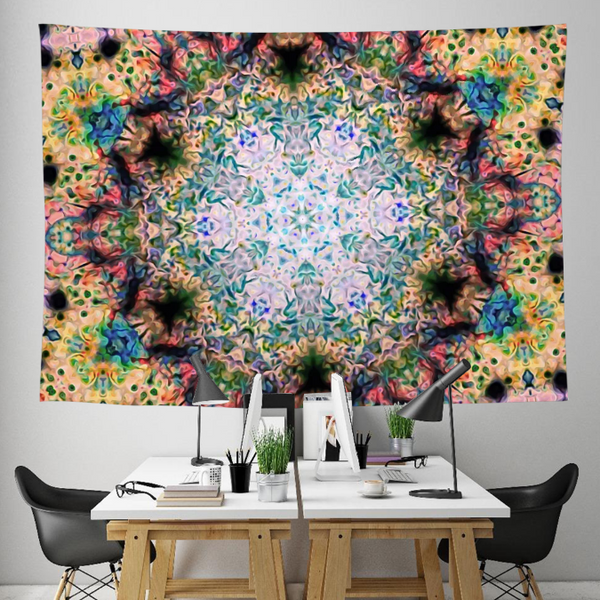 Celestial Wobble Collection Tapestry / Festival Flag - Heady & Handmade