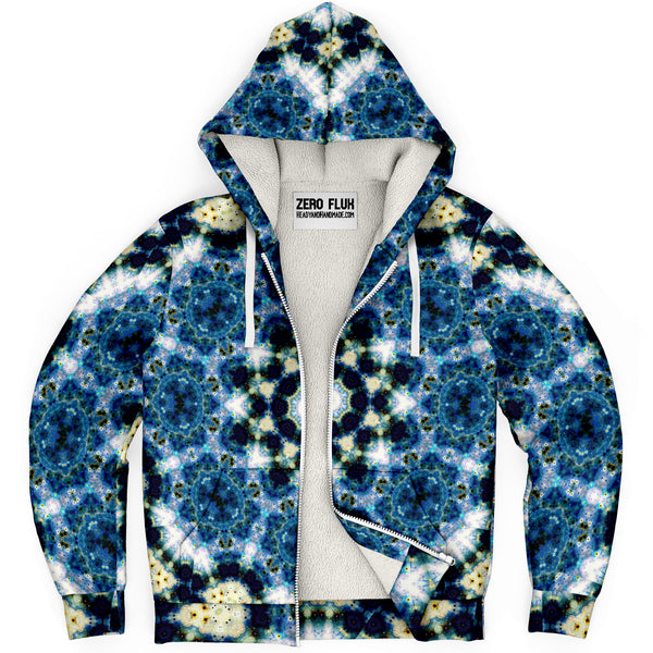 Kithin Psychedelic Fleece-Lined Zip-Up Hoodie