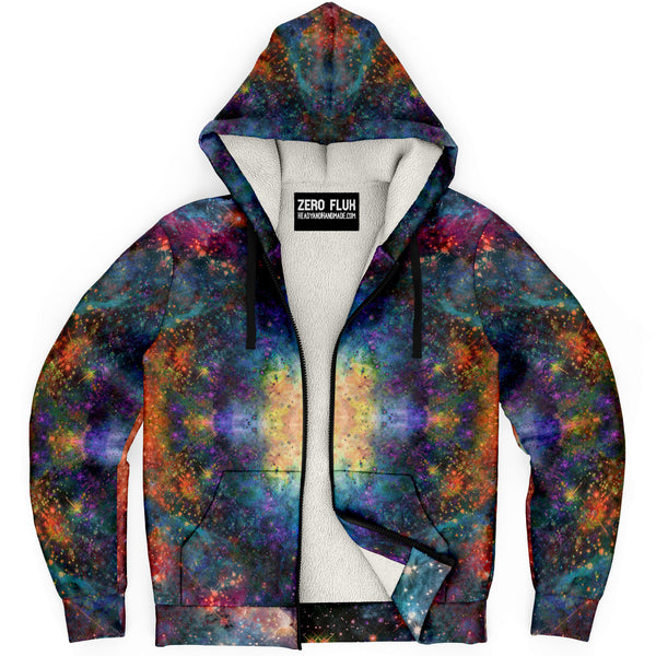 Fortuna Psychedelic Fleece-Lined Zip-Up Hoodie