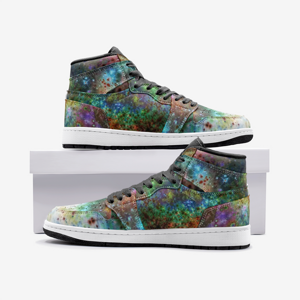 Supernova Psychedelic Full-Style High-Top Sneakers