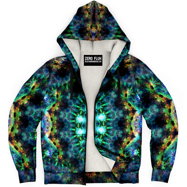 Ceres Psychedelic Fleece-Lined Zip-Up Hoodie