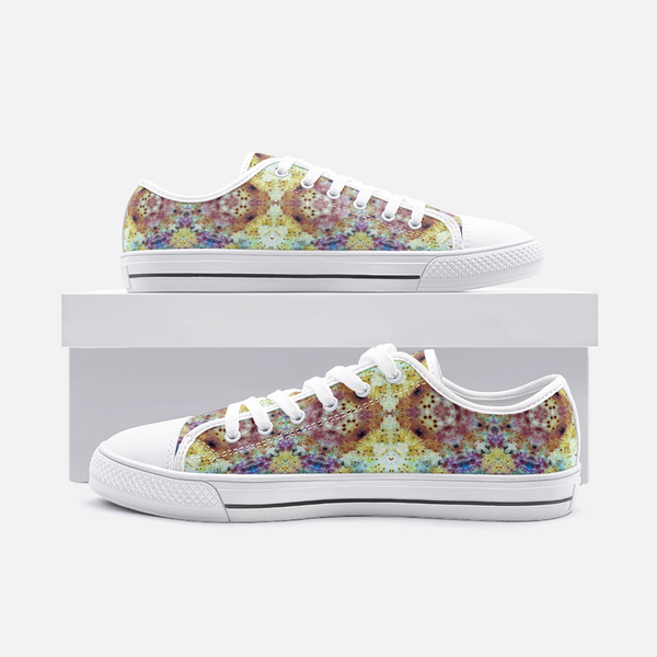 Conscious Psychedelic Canvas Low-Tops