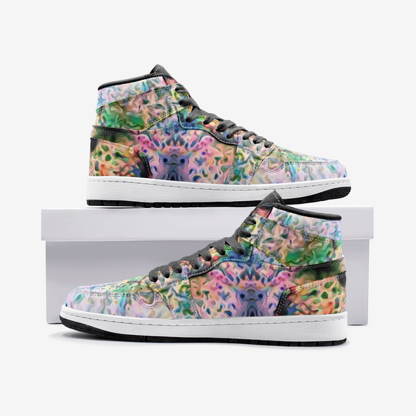 Lurian Wobble Psychedelic Full-Style High-Top Sneakers