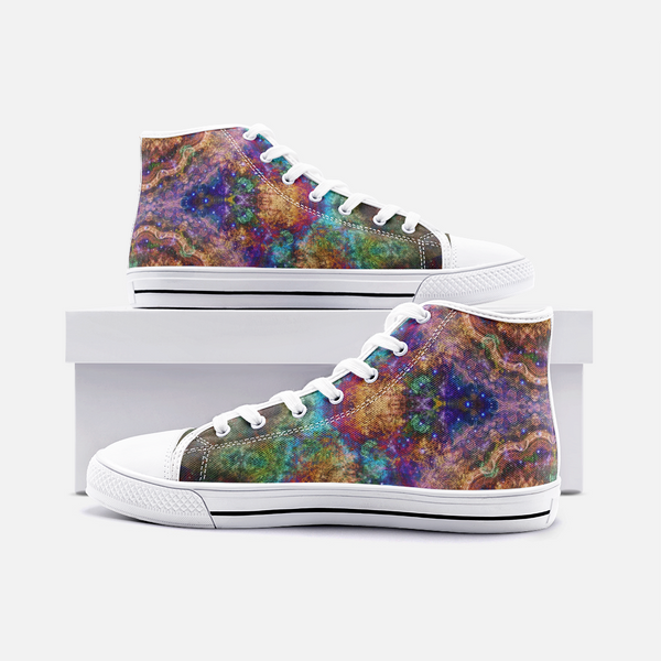 Unitas Psychedelic Canvas High-Tops
