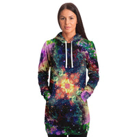 Cotton Candy Cosmos Collection Fleece-Lined Long Hoodie - Heady & Handmade