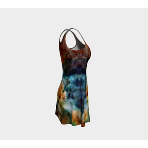 Sylas Collection Sublimated Cut & Sew Psychedelic Dress - Heady & Handmade