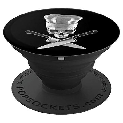 Gothic Chef Cook Skull PopSocket