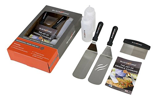 Griddle Accessories: 2 Spatulas, 1 Chopper Scraper, 2 Bottles, FREE Recipe Book