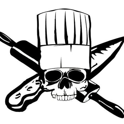 Chef Skull Decal Sticker