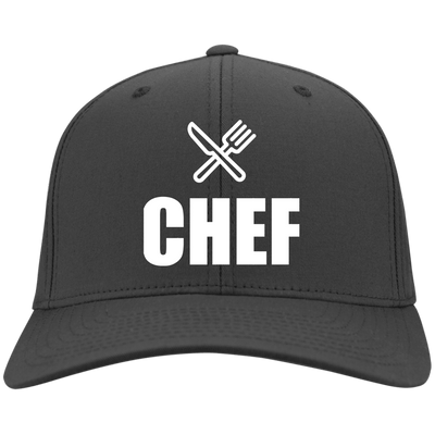 Chefs Knife and Fork Logo Port & Co. Twill Cap