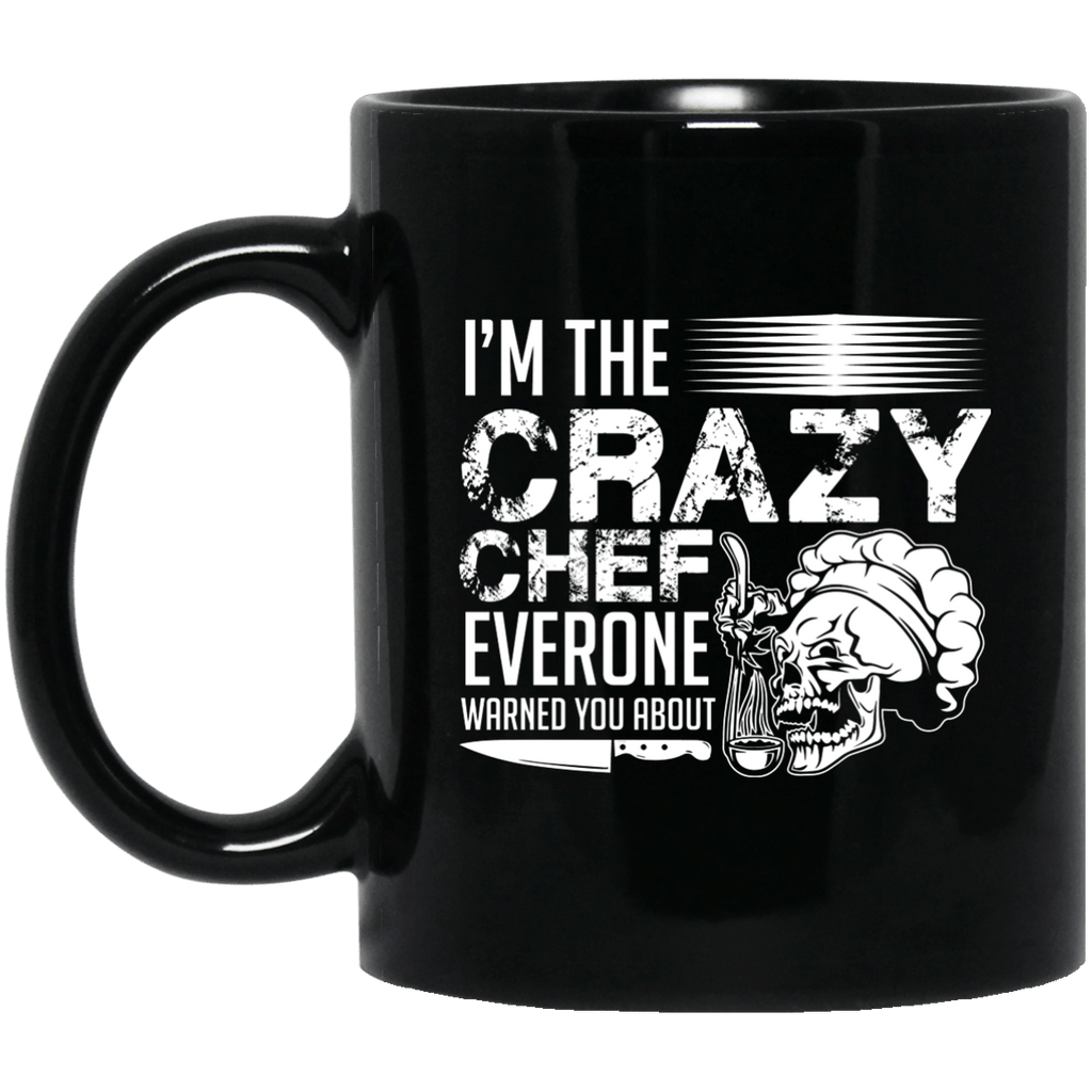 Crazy Chef Black Mug