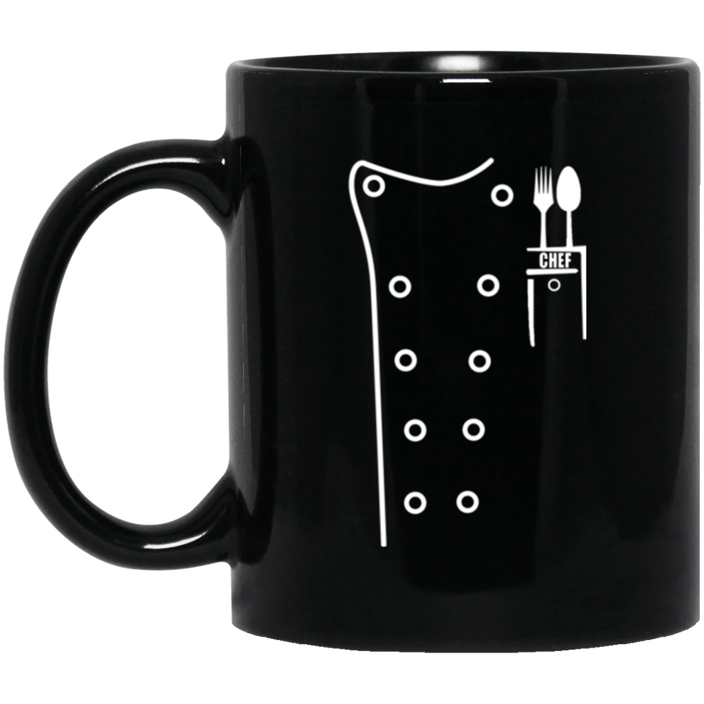 Chef Uniform Jacket Black Mug