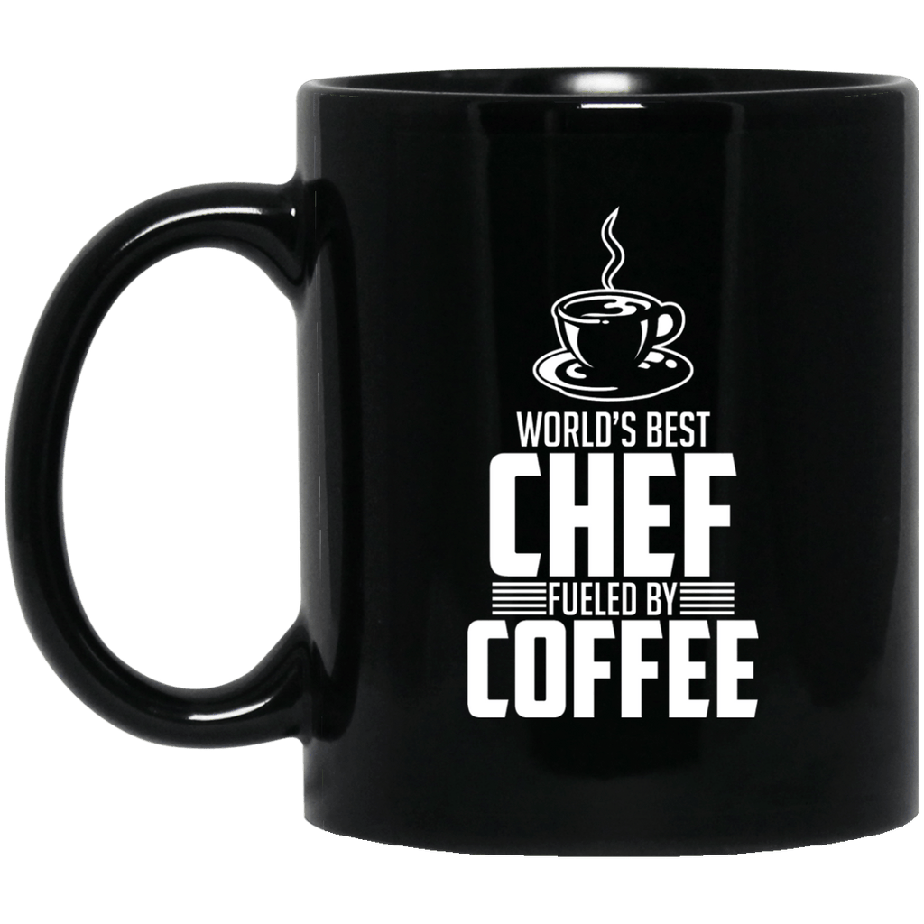 Worlds Best Chef Black Mug
