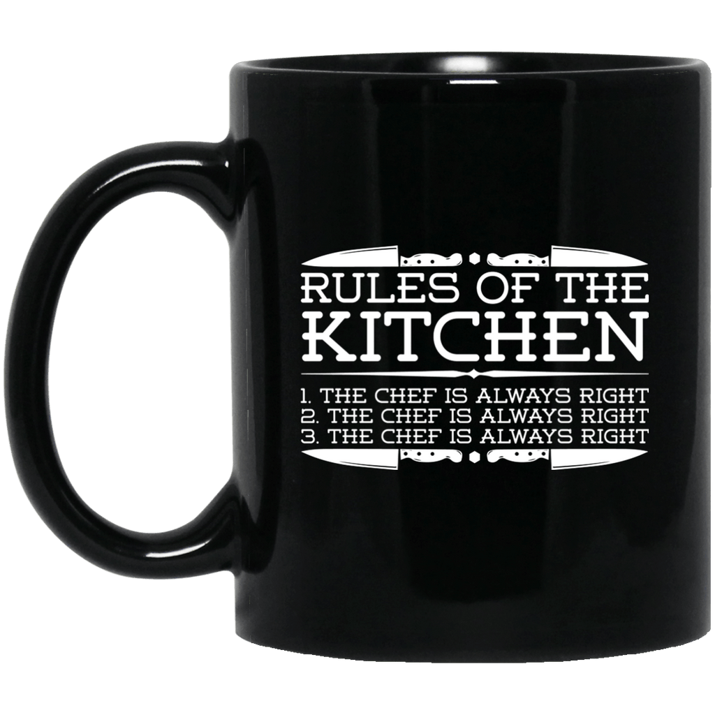 Rules of the Kitchen Black Mug