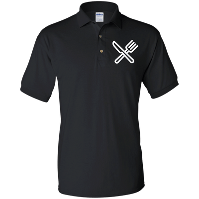 Knife and Fork Jersey Polo Shirt