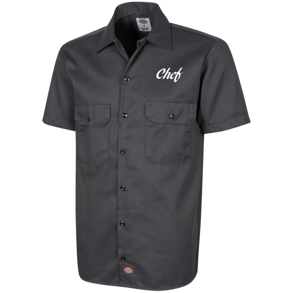 chef-text2 1574 Dickies Men's Short Sleeve Workshirt
