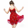 Sleeveless Summer Sling Chiffon Dress  in Strawbie Collections - girls dress