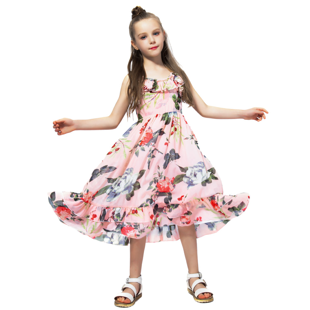 Bohemian Style Ruffle Decorated Dress As photo 2 / 12 in Strawbie Collections - girls dress