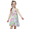 Chiffon Sleeveless Summer Dress green floral / 12 in Strawbie Collections - girls dress