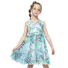 Chiffon Sleeveless Summer Dress blue floral / 12 in Strawbie Collections - girls dress
