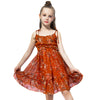 Sleeveless Summer Sling Chiffon Dress orange / 2 in Strawbie Collections - girls dress