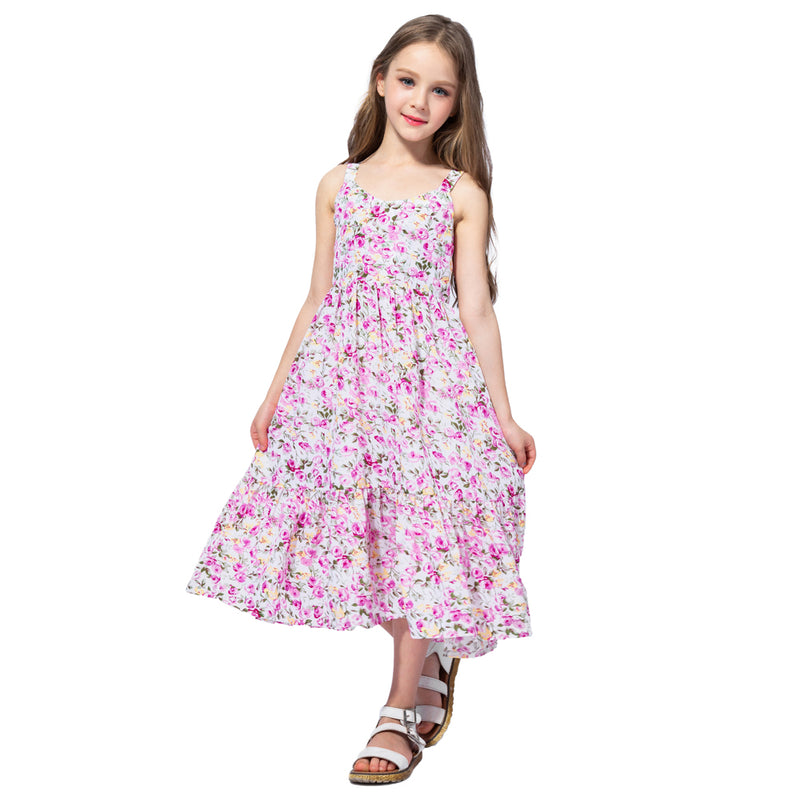 Chiffon Summer Princess Maxi Dress  in Strawbie Collections - girls dress