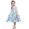 Chiffon Summer Princess Maxi Dress sky blue / 12 in Strawbie Collections - girls dress