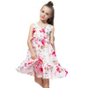 Chiffon Sleeveless Summer Dress white floral / 12 in Strawbie Collections - girls dress