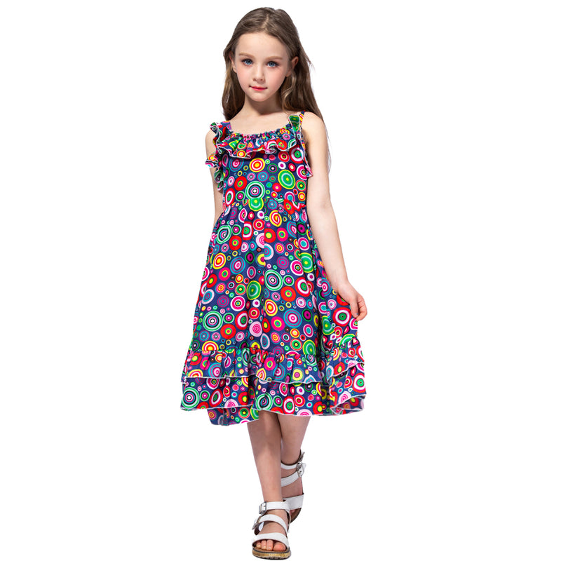 Bohemian Style Ruffle Decorated Dress As photo 3 / 12 in Strawbie Collections - girls dress
