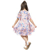 Casual Chiffon Pleated Floral dress  in Strawbie Collections - girls dress