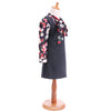 Black Formal Dress With Long Sleeve Floral Shirt  in Strawbie Collections - girls dress