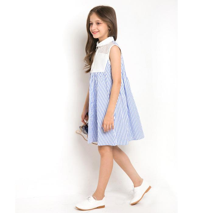 Sleeveless Striped Dress  in Strawbie Collections - girls dress